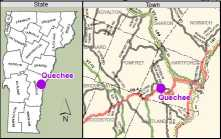 Excerpt of Quechee Library map