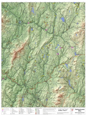 Fishing Access Sites (north central Vermont)